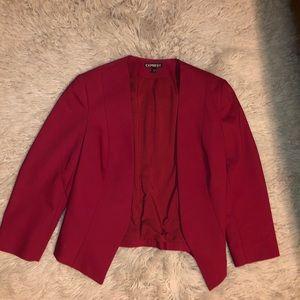 Express Red Cropped Blazer